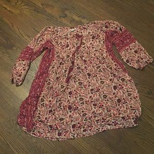 American Eagle Floral, Boho Dress/Tunic